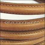 MINI Regaliz™ Leather Oval STITCHED  camel per inch