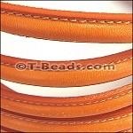 MINI Regaliz™ Leather Oval STITCHED  orange per inch