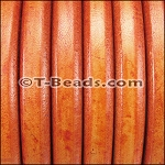 Regaliz™ Leather - Distressed Orange