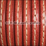 Regaliz™ Leather - Stitched Red
