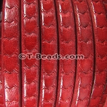 Regaliz™ Scales Leather - Red