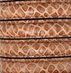 MINI Regaliz™ Leather Oval STITCHED Engraved - Camel color  per inch