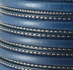 MINI Regaliz™ Leather Oval STITCHED  Navy per inch