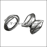 Regaliz™ double leaf spacer per piece ANT. SILVER