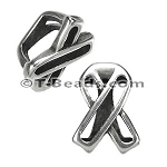 Regaliz™ wireframe awareness ribbon spacer ANT SILVER per piece