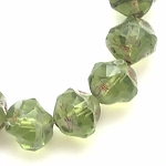 Central Cut - Olivine with Picasso Finish - 9mm
