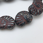 Nautalis - Black with Red Picasso Finish - 16x14mm