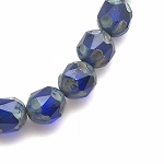Central Cut - Transparent Sapphire with Picasso Finish - 10mm