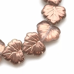 Maple Leaf - Crystal with Copper Finish - 13x11mm