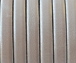 Flat Leather 5mm - per inch Metallic White