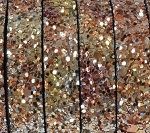 Flat Leather 10mm - Glitter Browns