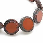 Mayan Sun Retro Orange Opaque with Picasso Finish - 12mm