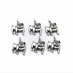 Bulldog Charms - 6 pieces