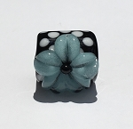 Glow in the Dark Turquoise Flower on Black