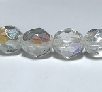 Crystal Transparent with AB finish- 6mm