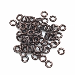 Copper Coiled Rings 6mm
