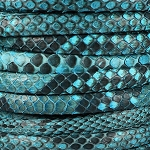 Python Mini Regaliz Leather per inch Cyan