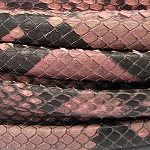 Python Mini Regaliz Leather per inch Salmon