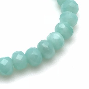 Aqua Green Opaline Silk- 5x3mm