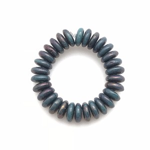 Turquoise Opaque with Purple Luster - 6mm disc spacer