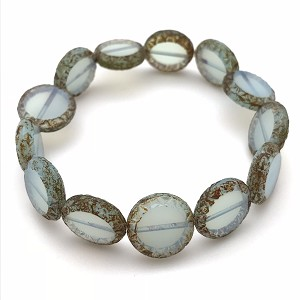 Mayan Sun Blue Opaline with Picasso Finish - 12mm