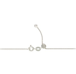 Adjustable Sterling Silver Box Chain Necklace