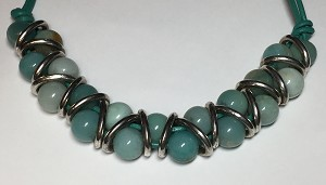 Amazonite Zig Zag Necklace