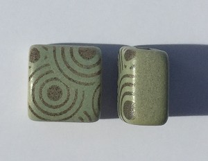 Clay River - 10mm - Etched Circles - Patina
