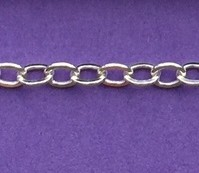 Sterling Silver Chain - Flat Cable Chain
