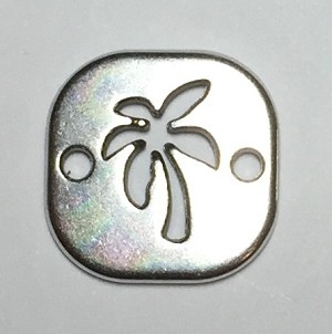 Square Palm Tree Charm
