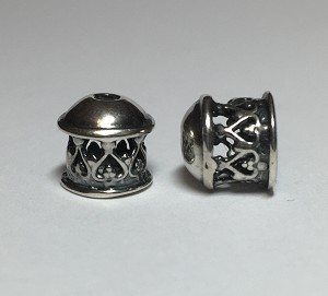 Viking Knit end caps - Silver Lace