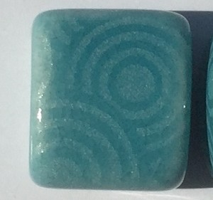 Clay River - 10mm - Etched Circles - Teal
