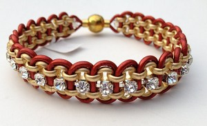 Crystal Chain and Leather Kit - Red and gold