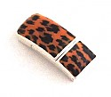 Flat Leather Leopard Clasp