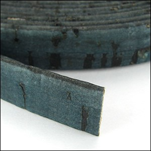 Cork 10mm Flat Leather per YARD Dark Teal