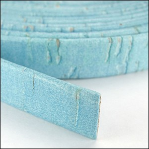 Cork 10mm Flat Leather per YARD Baby Blue - ONLY 1 LEFT
