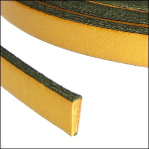 Flat Leather 5mm - per inch Mustard