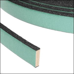 Flat Leather 10mm - per inch Pastel Emerald Green