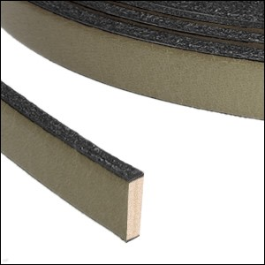 Flat Leather 10mm - per inch Khaki Brown