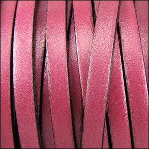 Metallic Flat Leather 10mm - per inch Garnet