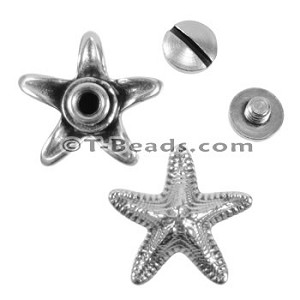 Multi Flat Leather Screw Set - Starfish