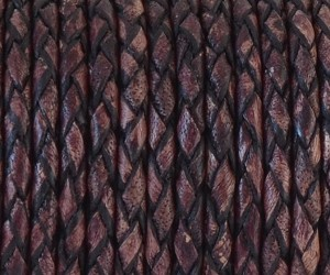 3mm Braided Round - Vintage Bordeaux - per yard
