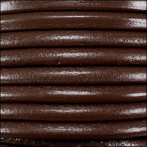 5MM ROUND EURO LEATHER PER INCH - Rich Brown