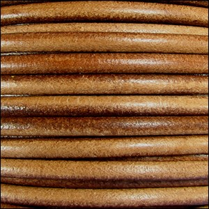 5MM ROUND EURO LEATHER PER YARD - Camel