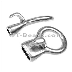 multi strand ROUND HOOK clasp Ant Silver