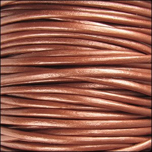 Metallic 2mm Leather per spool Copper