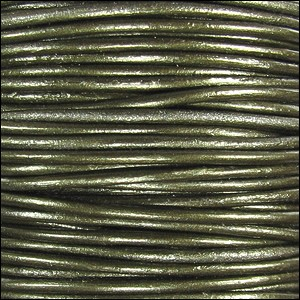 Metallic 2mm Leather per 3 yards Guariya
