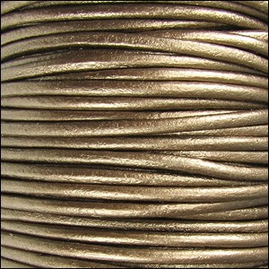 Metallic 2mm Leather per spool Kansa