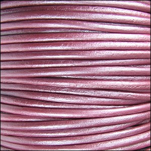 Metallic 2mm Leather per spool Fruit Punch