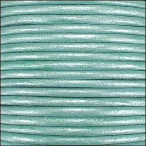 Metallic 1.5mm Leather per spool Lt Turquoise